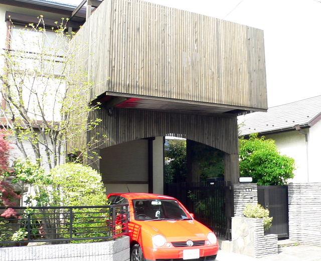 東京都大田区の車庫上・ガレージウッドデッキ施工例