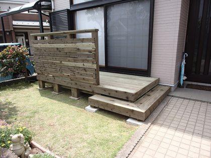 ウッドデッキ施工例 横浜市 庭ウッドデッキno2-106a