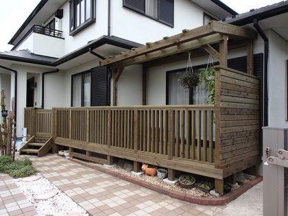 ウッドデッキ施工例 横浜市 庭ウッドデッキno2-107a