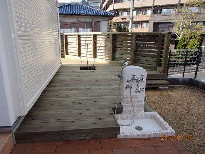 ウッドデッキ施工例 横浜市 庭ウッドデッキno2-62a