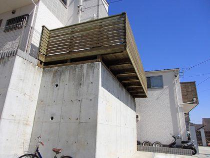 ウッドデッキ施工例 川崎市 庭ウッドデッキno2-76a