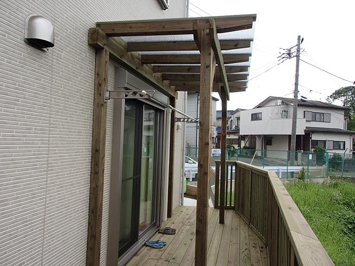 ウッドデッキ施工例 横浜市 庭ウッドデッキno2-79a
