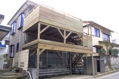 ウッドデッキ施工例 横浜市 バルコニーウッドデッキno3-12a
