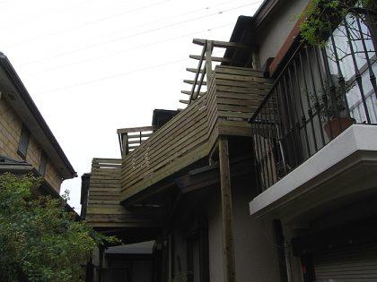 ウッドデッキ施工例 横浜市 バルコニーウッドデッキno3-25a