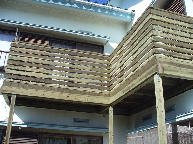 ウッドデッキ施工例 鎌倉市 バルコニーウッドデッキno3-28a