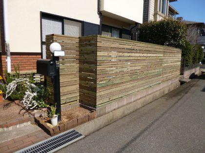 千葉県佐倉市の長さ10M目隠しフェンス