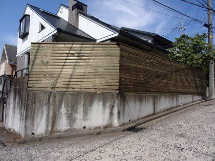 ウッドデッキ施工例 横浜市青葉区 ウッドフェンス