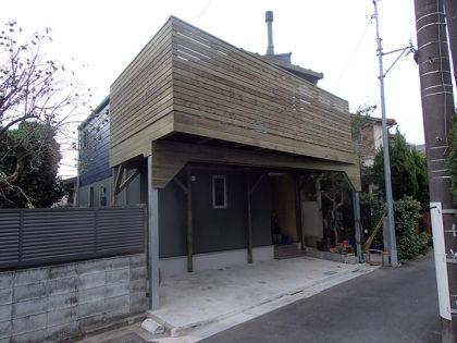 東京都調布市 鉄骨併用ウッドデッキ