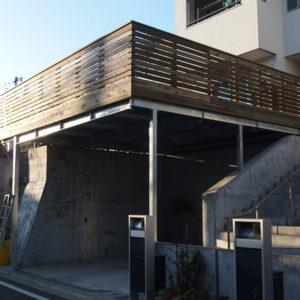 神奈川県川崎市麻生区 鉄骨併用ウッドデッキ