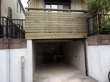 神奈川県横浜市神奈川区 カーポート+ウッドデッキ