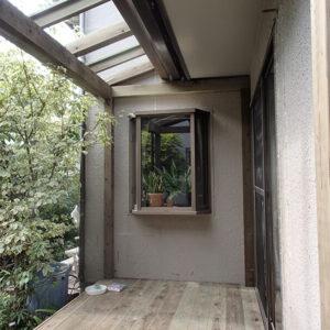 東京都世田谷区 庭ウッドデッキ施工