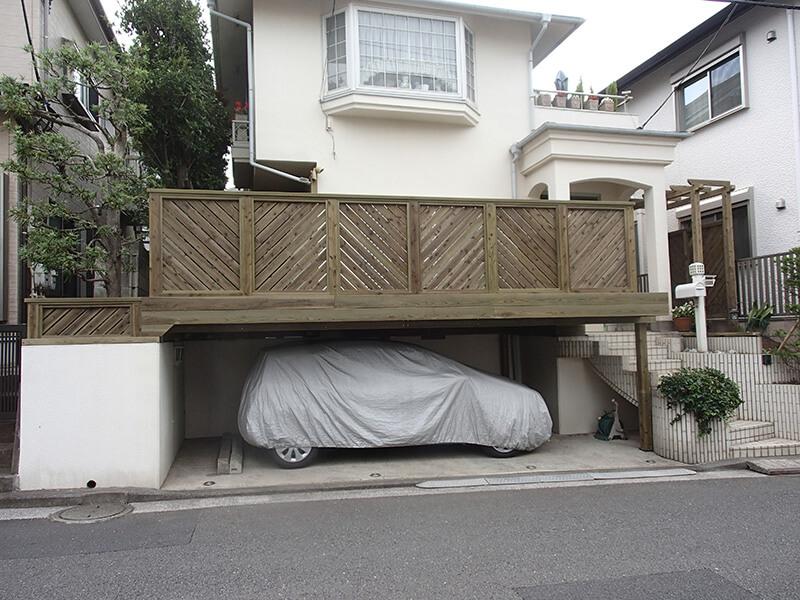 横浜市鶴見区の鉄骨ウッドデッキ施工