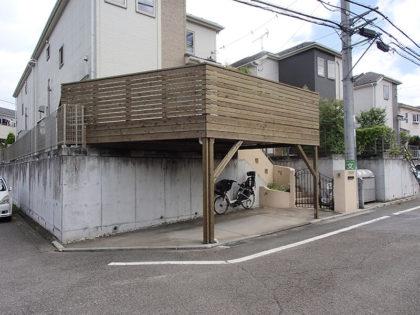 横浜市青葉区 車庫上ウッドデッキ