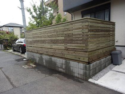 神奈川県藤沢市 庭ウッドデッキ施工