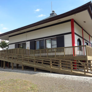 神奈川県厚木市 スロープ ウッドデッキ施工